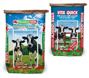 Flanders Milk and Vita Quick 25kg bags